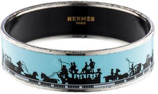 Hermès Wide Enamel Bracelet $375 thestylecure.com