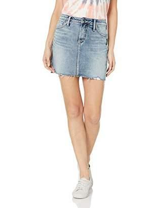 Silver Jeans Co. Women's Francy Denim Skirt with Frayed Hem