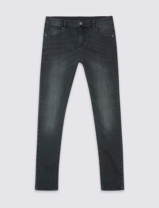 Marks and Spencer Cotton Skinny Leg Jeans with Stretch (3-14 Years)