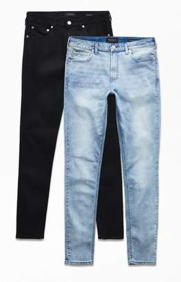 PacSun Black & Light Two Pack Stacked Skinny Jeans