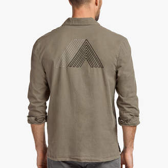 James Perse COTTON LAWN MOUNTAIN GRAPHIC SHIRT