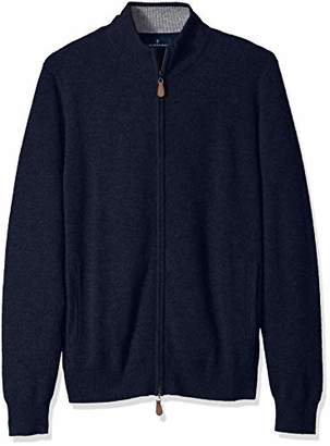 Buttoned Down Men's 100% Premium Cashmere Full-Zip Sweater