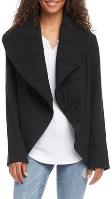 Karen Kane Quilted Collar Cotton Blend Jacket