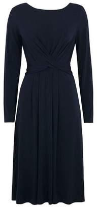 Wallis Navy Cross Front Wrap Midi Dress