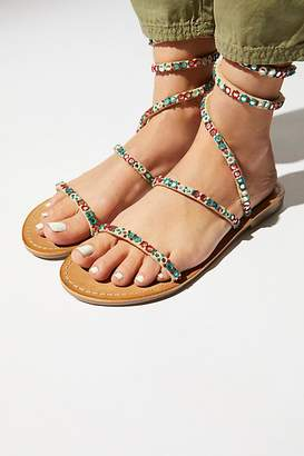 Free People Fp Collection Embellished Havana Sandal