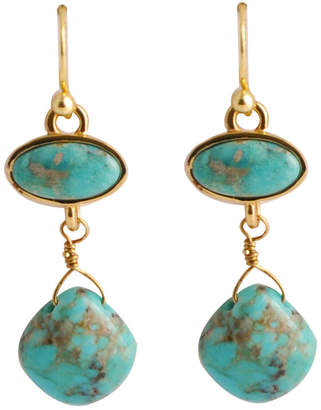 Artsmith BY BARSE Art Smith by BARSE Turquoise Double-Drop Earrings