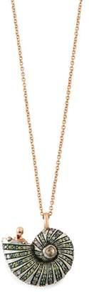 Bibi Van Der Velden - Poseidon's Getaway 18kt Rose Gold Shell Necklace - Womens - Gold