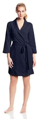Casual Moments Women's Waffle-Knit Robe
