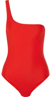 JADE SWIM Apex One-shoulder Swimsuit - Tomato red