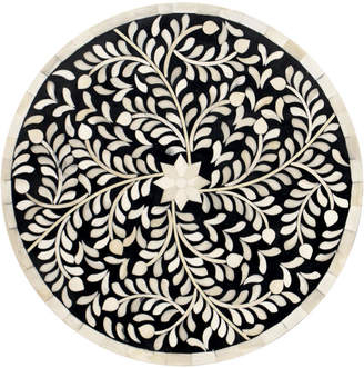 """Mela Artisans Natural Bone & Wood Charger Round """"Imperial Beauty"""""""