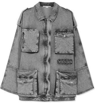 Stella McCartney Oversized Acid-wash Denim Jacket - Gray