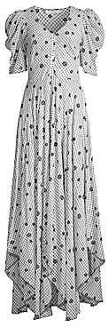 LoveShackFancy Women's Coralie Floral Button-Down Maxi Dress