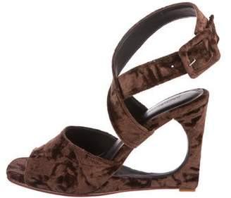 Rachel Comey Velvet Wedge Sandals w/ Tags