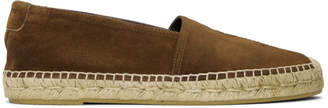 Saint Laurent Brown Suede Monogramme Espadrilles