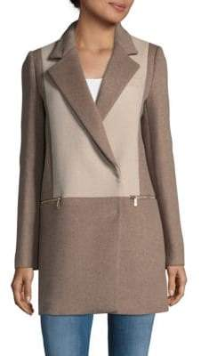 Dawn Levy Lila Two-Tone Coat