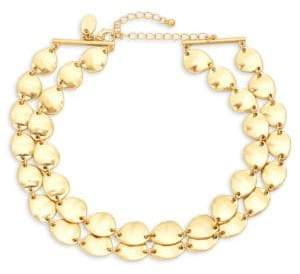 Ava & Aiden Goldtone Double Row Choker Necklace