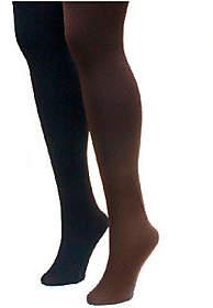 Muk Luks Women's Fleece-Lined Tights 2-Pair Pac