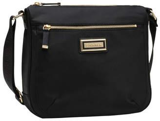 Calvin Klein Dressy Nylon Messenger Bag Black/Gold