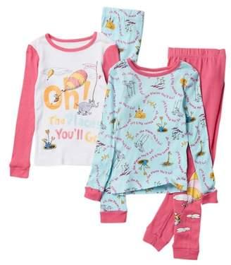 Dr. Seuss Komar Cotton PJ Set - Set of 2 (Toddler Girls)