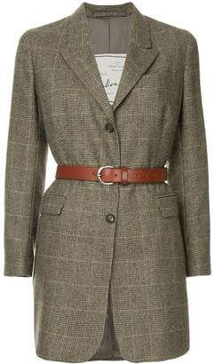 Giuliva Heritage Collection checked belted blazer