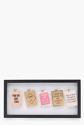 boohoo Womens Large Interchangeable Photo Frame in Black size One Size