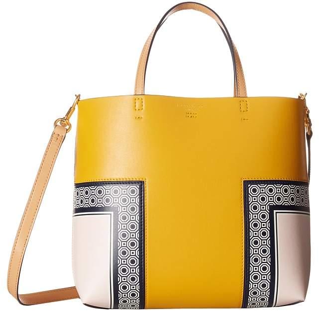 Tory Burch Block-T Printed Mini Tote Handbags - OCTAGON SQUARE SCARF - STYLE