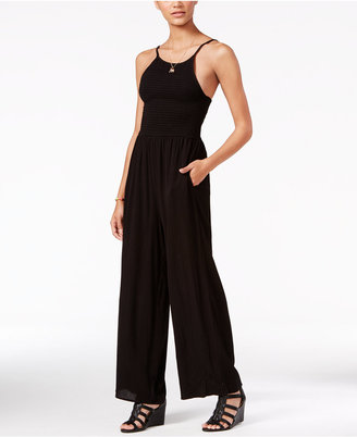 American Rag Smocked Wide-Leg Jumpsuit, Only at Macy's $69.50 thestylecure.com