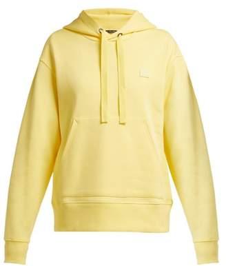 Acne Studios Ferris Face Cotton Hooded Sweatshirt - Womens - Yellow