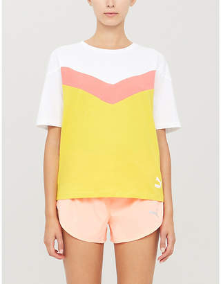 Puma Colour block cotton-jersey T-shirt
