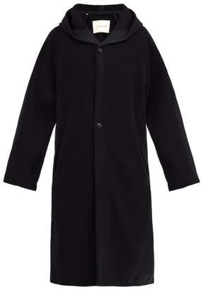 MACKINTOSH Single Breasted Herringbone Wool Blend Coat - Mens - Navy