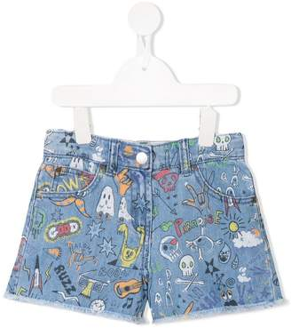 Stella McCartney printed denim shorts