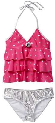 Love U Lots Heart Ruffle Tankini Swimsuit Set (Toddler, Little Girls, & Big Girls)