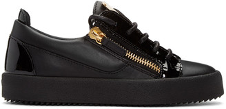 Giuseppe Zanotti Black May London Sneakers $650 thestylecure.com