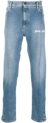 Palm Angels logo straight-leg jeans