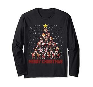 Christmas Sweater Long Shirt Pine Dog Dabbing Gift Party
