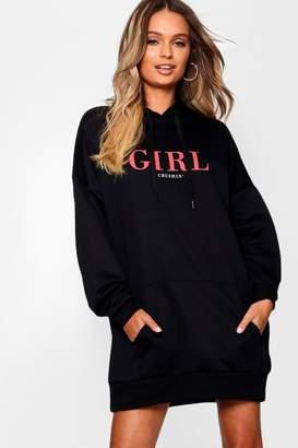 boohoo Girl Crushin Oversized Sweatshirt Dress