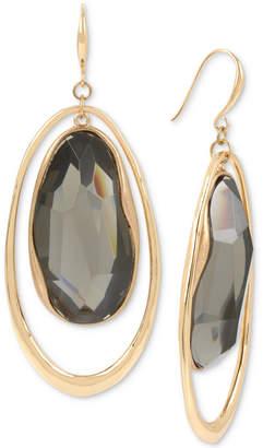 Robert Lee Morris Soho Gold-Tone Stone Orbital Drop Earrings