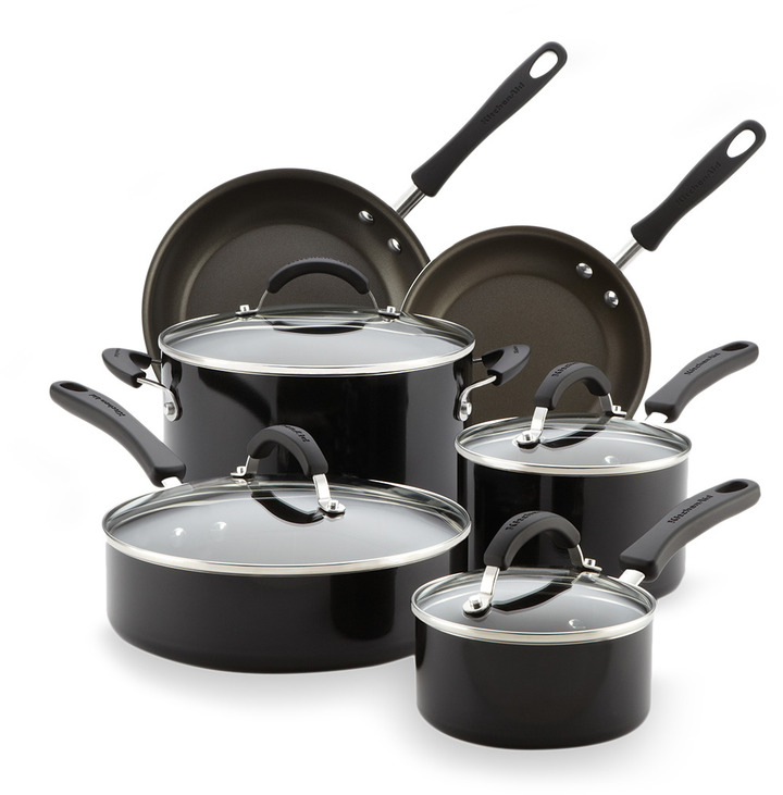 KitchenAid Aluminum Nonstick Cookware Set (10 PC)
