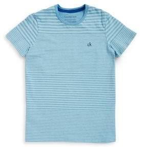 Calvin Klein Jeans Boy's Frequency Stripes Crewneck Tee