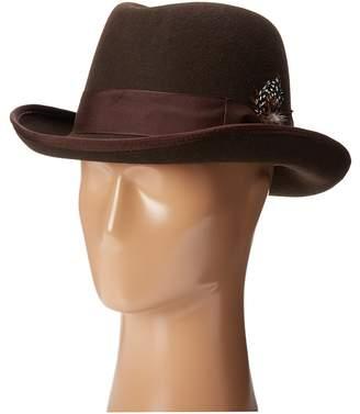 Stacy Adams Homburg Wool Felt Hat w/ Grosgrain Band Fedora Hats