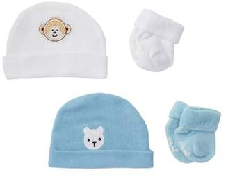 Little Me 2 Beanies & 2 Pairs of Terry Socks Gift Set (Baby Boys)