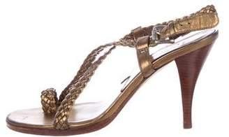 MICHAEL Michael Kors Woven Ankle Strap Sandals