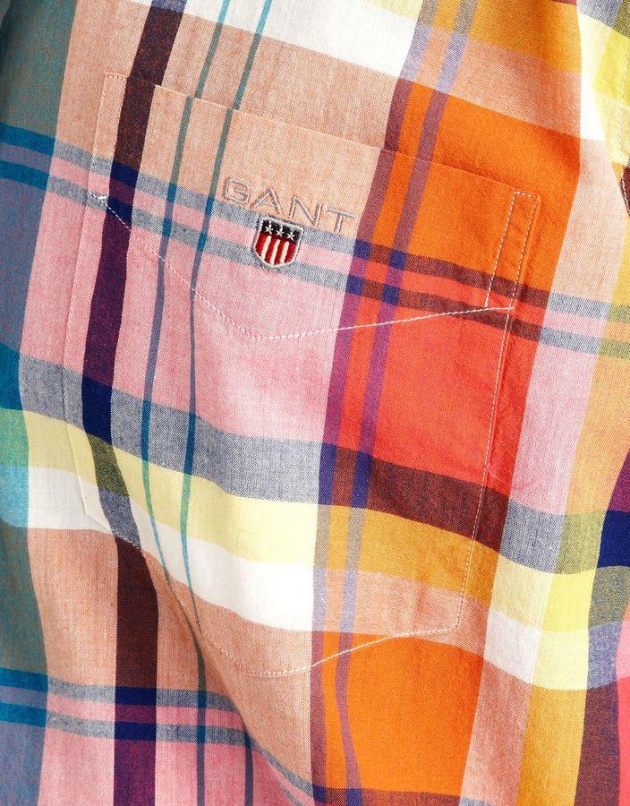Gant Handloom Madras Short Sleeve Shirt