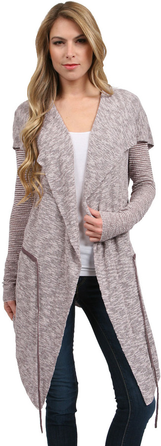 Free People For Keeps Cardigan in Taupe