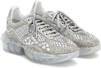 Jimmy Choo Embellished leather sneakers