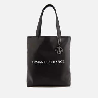 676022c562c Armani Exchange Women s Reversible Love Potion Shopper Bag - Black White