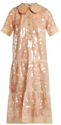 No.21 No. 21 - Sequin Embellished Silk Dress - Womens - Nude