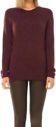 Max Studio Wool Crepe Knitted Long Sleeved Pullover