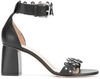 RED Valentino RED(V) studded block heel sandals