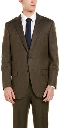 Brooks Brothers Madison Fit Wool Suit With Flat Pant